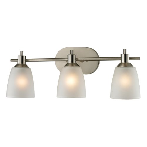 Thomas Lighting Jackson 3-light Bath Bar, Brushed (Light Brushed Nickel Bar)