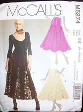 UNCUT & OOP McCALL'S M5274 FLARED SKIRTS WITH GODETS SEWING PATTERN MISSES' SIZE: AX5 (4-6-8-10-12)