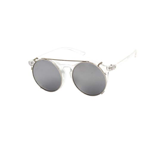 e16a62050e Shopystore C3 Vintage Steampunk Round Men Sunglasses Flip Separable Lens  Metal Frame Fash  Amazon.in  Clothing   Accessories