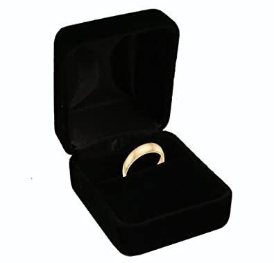 Amazoncom Black Velvet Ring Box Jewelry Boxes Jewelry