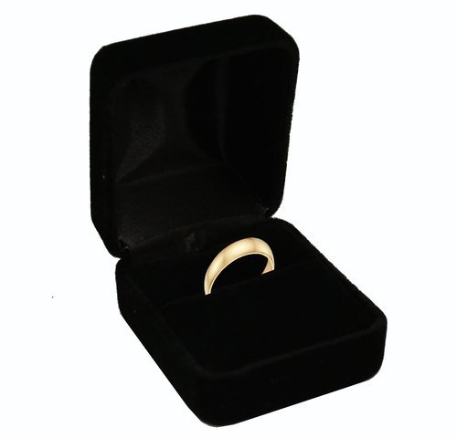 Geff House Black Velvet Ring Box ()