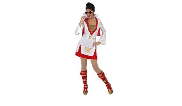 Disfraz de rockero para mujer: Amazon.es: Juguetes y juegos