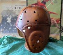 Four Strap Heisman Trophy Leather Football Helmet (1930-1940s)