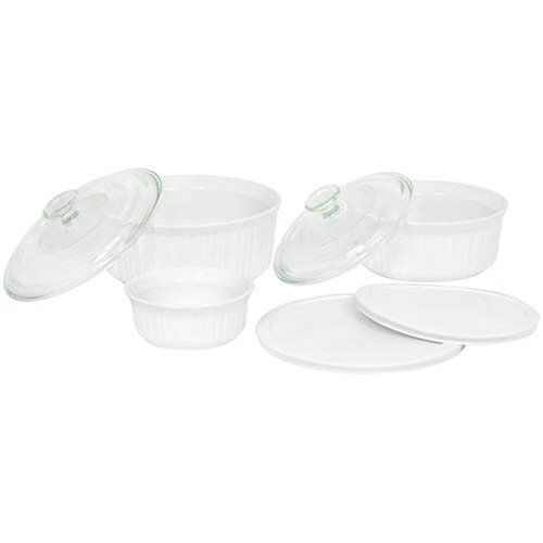 CorningWare French White 7-Piece Bake and Serve Set (French Ceramic Cookware compare prices)