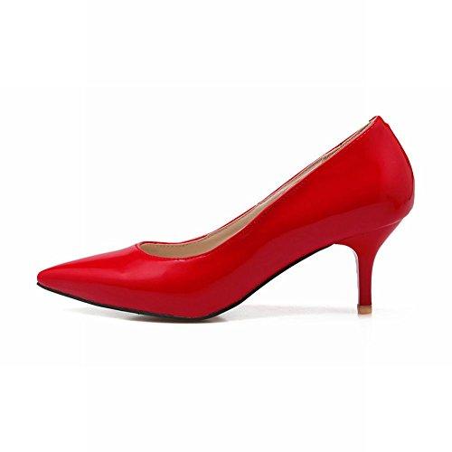 Latasa Red Womens Pointed Toe Dress Pumps Heels Latasa Kitten Womens aRzPaqr