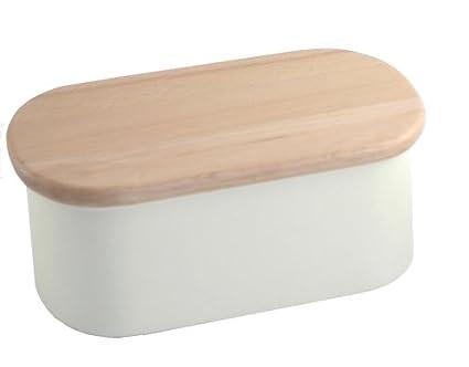 Nigella Lawson Recipiente para mantequilla con tabla de madera de haya para servir: Amazon.es: Hogar