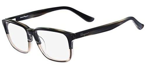 Eyeglasses FERRAGAMO SF2738 466 BLUE HORN - Mens Glasses Lv