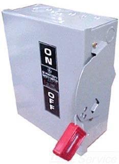 GE TGN3323 3 Wire 3 Pole Non-Fusible General-Duty Safety Switch 240 Volt AC 100 Amp NEMA 1 Spec-Setter™