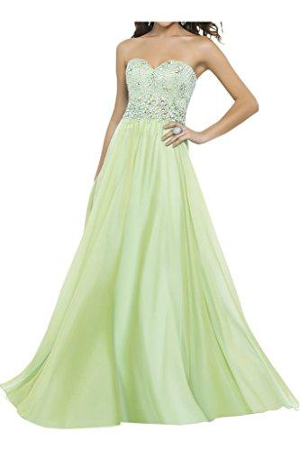 Damen Ivydressing A Herz Strass Lang Ausschnitt Linie Chiffon Festkleid Sage Abendkleid 6HRqHwdx