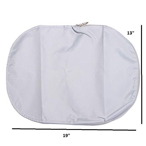 """Universal Phoropter Refractor Protective Dust Cover Nylon Grey Color/w Zipper 19"""" L x 13"""" W"""