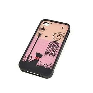 CECT STOCK Gato rosado y la caja Birdcage para el iphone 4/4S