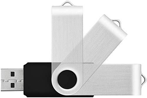 USB Bulk Flash Drives 8GB 100 Pack TOPESEL USB 2.0 Flash Drives Bulk Thumb Drive Pack Memory Stick Swivel Pen Drives (Black)