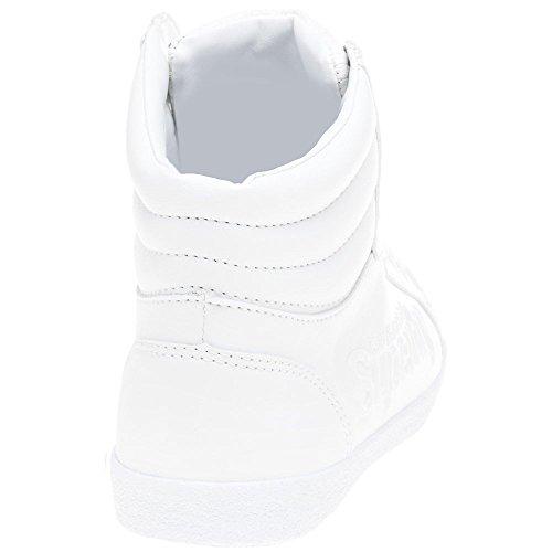 Sleek Superdry Hi Mode Femme Logo Baskets Blanc Super 8TRwv