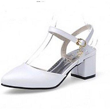 Donne 039 s sandali Comfort PU Primavera Estate informale comfort arrossendo Rosa Bianco Beige 2A-2 3 4inWhiteUS5 EU35 UK3 CN34