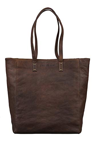 Antonio Valeria Ava, Brown Premium Leather Tote/Top handle Shoulder Bag for Women, Medium ()