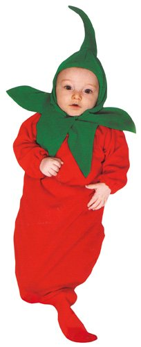 Rubie's Costume Co Baby Boy's Red Hot Chili Pepper Bunting Infant Costume, Red, 0-9 Months