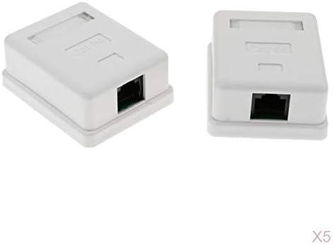 Almencla 10 Piezas 1 Puerto Cat5e RJ45 Caja De Montaje En Superficie con Jack Punch Down Keystone Jack Y Conector Hembra Ethernet De Red: Amazon.es: Electrónica