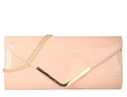 rimen-co-pu-leather-patent-shiny-stylish-metal-chain-cross-body-evening-cocktail-party-clutch-handba