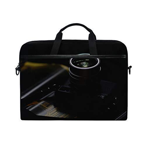 Rh Studio Laptop Bag Camera Lens Leica M9 Messenger Bag Case Sleeve for 14 Inch to 15.6 Inch with Adjustable Notebook Shoulder Strap