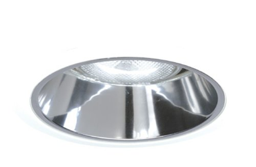 Juno Lighting Group 27PT-SC 6-Inch Tapered Downlight Cone, Satin Chrome Trim with Pewter Alzak ()