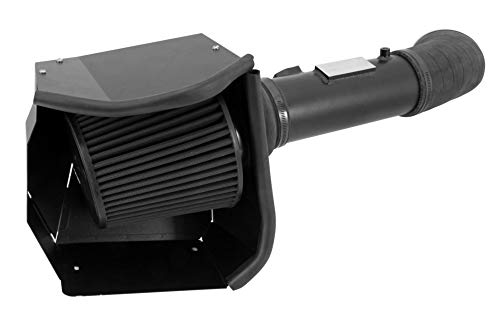 K&N Cold Air Intake Kit with Washable Air Filter:  2011-2016 Ford Super Duty (F250, F350, F450 F550) 6.7L V8 Diesel,  Blackhawk Finish w/ dry black filter, 71-2582 (2011 Ford Super Duty Diesel For Sale)