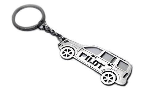 keychain  ring  honda pilot ii steel key pendant chain automobile gift car design