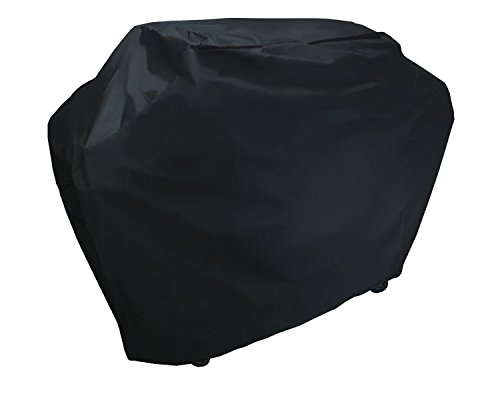 KHOMO GEAR Panther Series Waterproof Heavy Duty BBQ Grill Cover Compatible with Weber (Genesis), Holland, Brinkmann, Char Broil, Kenmore, Large, Black (Veranda Cart Bbq Cover)