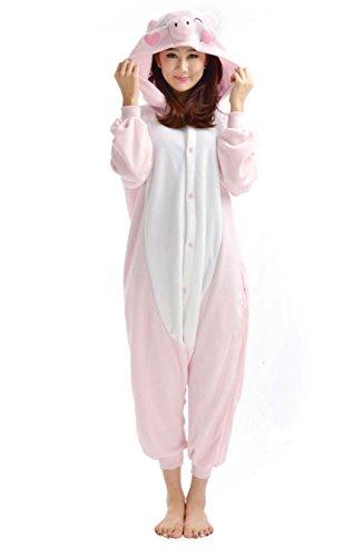 SAMGU Unisex Adult Animal Pyjama Cosplay Tier Kostüm Nachtwäsche Overall Jumpsuits Pig Pig