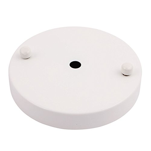 uxcell 120mmx20mm Ceiling Plate Chassis Disc Round Base Pendant Light Accessories White