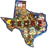Sunsout Texas Pride Shaped 1000 Piece Jigsaw Puzzle