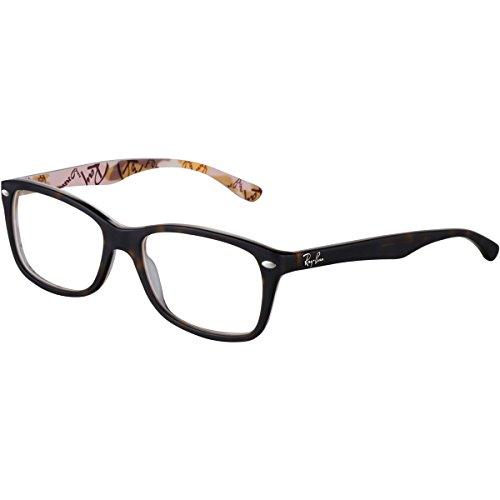 Ray-Ban RX5228 Square Eyeglass Frames, Matte Tortoise/Demo Lens, 50 ()