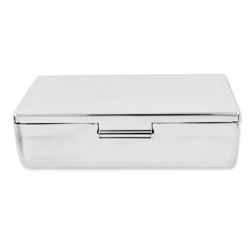 Goldia Silver-Plated Rectangular Mirrored Double Lipstick Case - Engravable Gift Item ()