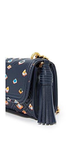 Tory Leather Fleming Micro Bag Burch Crossbody Floral Printed w4BqrFxwT