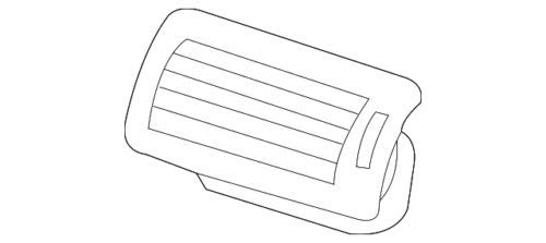 Genuine Mercedes-Benz Air Vent 251-830-10-54-8K67