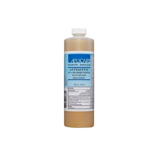 Aplicare 82-288 4% CHG Solution, Flip-Top Cap, 16 oz. (Pack of 12)