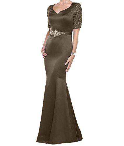 Langarm Formalkleider Satin Braut Abendkleider Meerjungfrau La Hochwertig Kleid mia Braun Brautmutterkleider Lang Etuikleider SqIH01