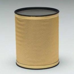 Redmon Bath Jewelry Diamond Pattern Round Vinyl Wastebasket R228GDGD ()