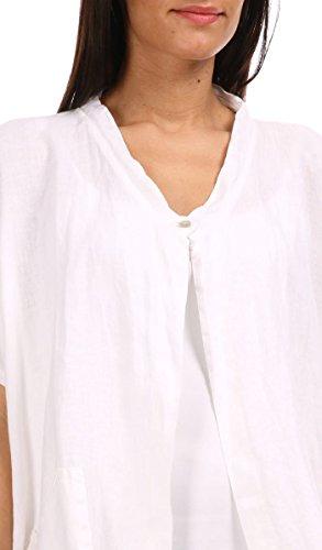 100 % LIN - Rebeca MARIE - Mujer Blanco