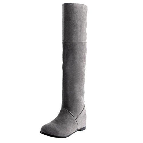 COOLCEPT Botas Largas para Mujer Gray-2