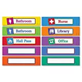 Magnetic Hall Passes, 9-1/2''x2-1/4'', Set Of 10, Multi, Sold as 1 Each, 10 Each per Each