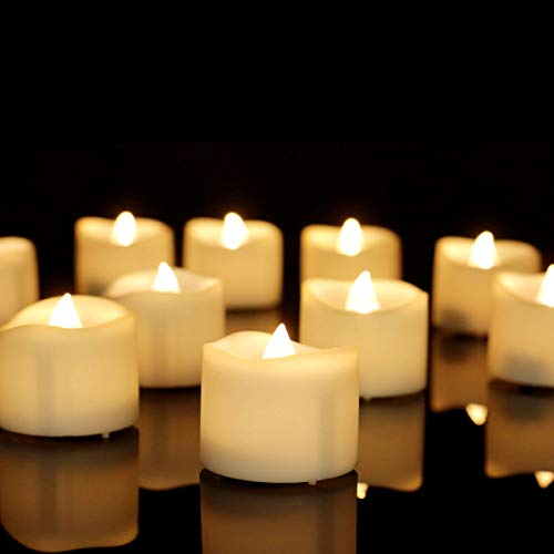 Battery Operated LED Tea Lights,Flameless Votive Tealights Candle