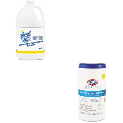 KITCOX35309RAC74983CT - Value Kit - Lysol Quaternary Disinfectant Cleaner (RAC74983CT) and Clorox Germicidal Wipes (Quaternary Germicidal Cleaner)