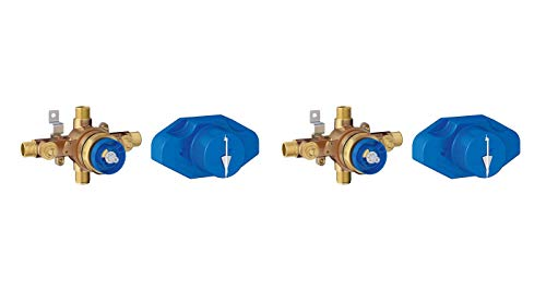 Grohe 35015001 - Grohsafe Universal Pressure Balance Rough-In Valve (New Version of Grohe 35015000) (Pack of 2) ()
