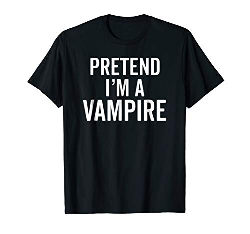 Vampire Costume T-Shirt for the Last Minute Party Cute Idea -