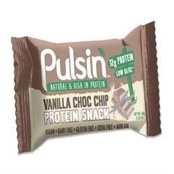 (12 PACK) - Pulsin Vanilla Choc Chip Protein Bar | 50 x 18g x | 12 PACK - SUPER SAVER - SAVE MONEY by Pulsin Ltd