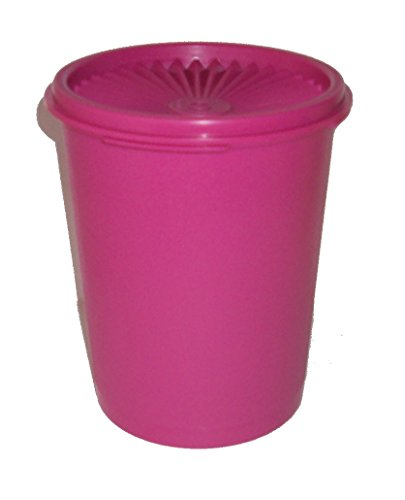 (Tupperware 5 Cup Servalier Snack Canister Fuchsia Pink)