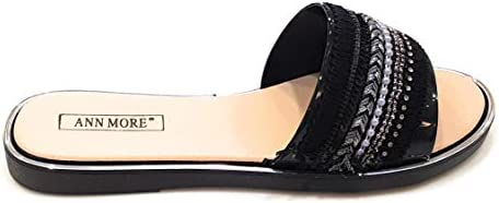 Details about  /SAN REMO JELLY SANDAL WOMEN SHOES SLIP ON BIG GEMS-ANN MORE ORDER 1 SIZE UP