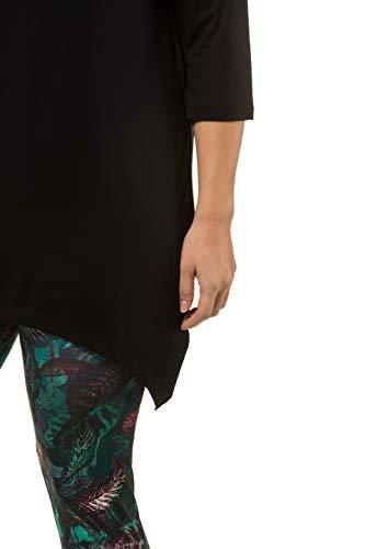 shirt Inscription Rivets Femme Popken Noir T Ulla Tailles Grandes 720991 gOXwxqH