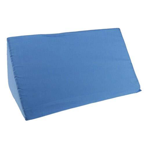 ❤Lemoning❤ Acid Reflux Foam Bed Wedge Pillow Leg Elevation Back Lumbar Support Cushions (Blue)