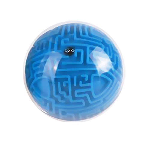Maze Ball Mini 3D Magic Puzzle Intelligence & Idea Maze Game Toys | Brain Teasers Ball for Adults Kids | Hard Challenges Gravity Memory Sequential Puzzles | Early Development Toy for Kids | Blue